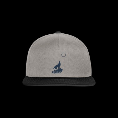 Byteball Crypto Wolf Howls Moon at Gift Blue - Snapback Cap
