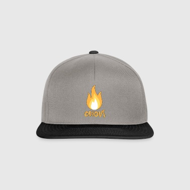 motbjudande flamma Outlined - Snapbackkeps