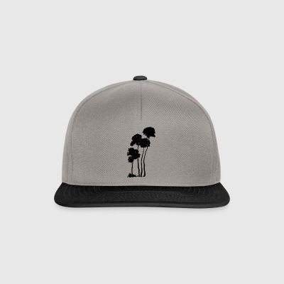 Palm trees silhouette - Snapback Cap