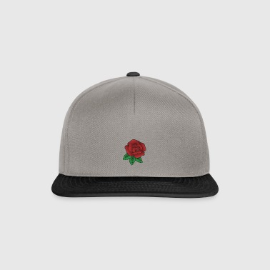 Rose rouge - Casquette snapback