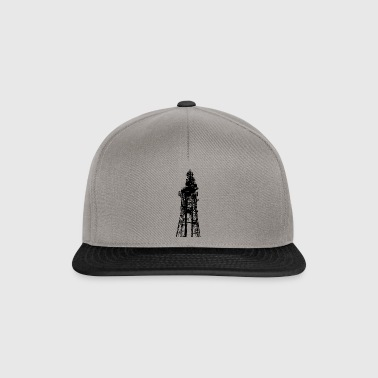 Large transmission / TV Tower silhouetted - Snapback Cap