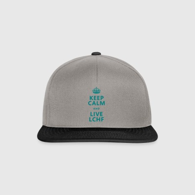 Keep calm & live LCHF / keto / paleo / fit food - Snapback Cap