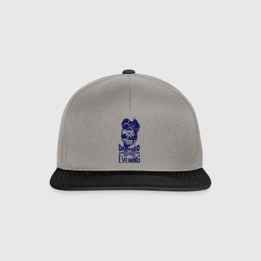 dead head hipster quote dressed evening coiffur - Snapback Cap