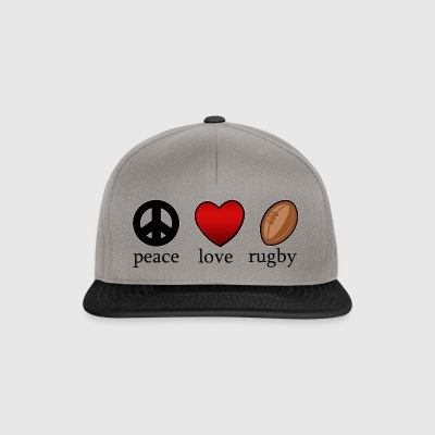 Peace Love Rugby - Snapback Cap