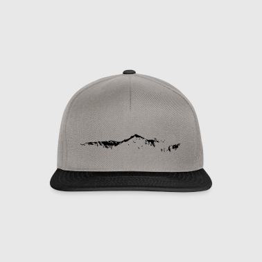 Swiss Mountain Skyline - Snapback Cap
