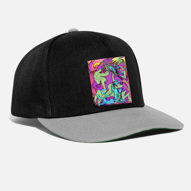 07ee775cbe739 Psicodélico cubo cuadrado rectángulo marco gorra snapback spreadshirt jpg  800x800 Cuadrado gorras planas con dibujos