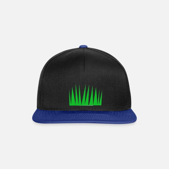 Garden Caps & Hats - green grass - Snapback Cap black/bright royal