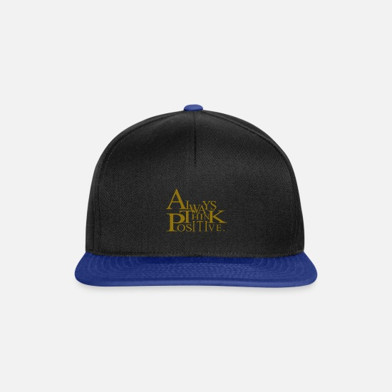 Always Caps & Hats - Always think positive like proton in chemistry - Snapback Cap black/bright royal