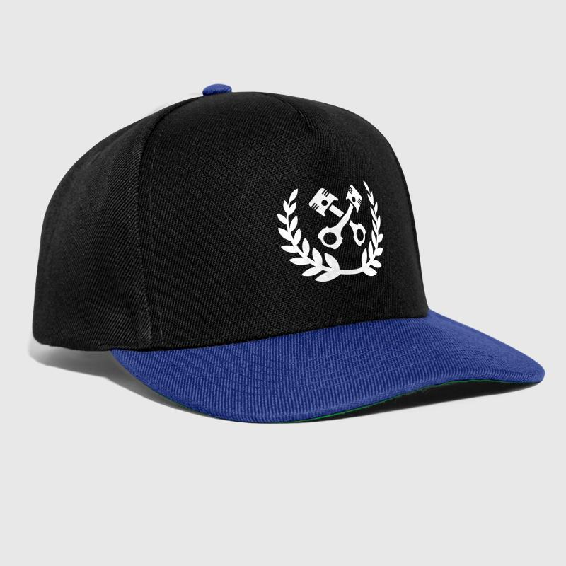 Tuning Race Cars - laurel wreath / piston - Snapback Cap