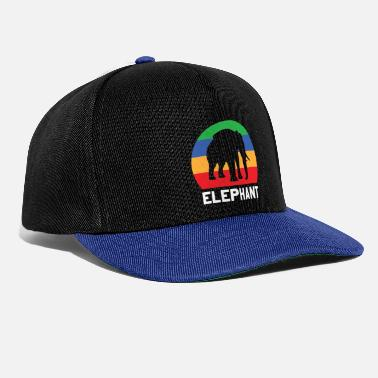 Pachyderm Elephant Elephant heat flock of water family - Snapback Cap