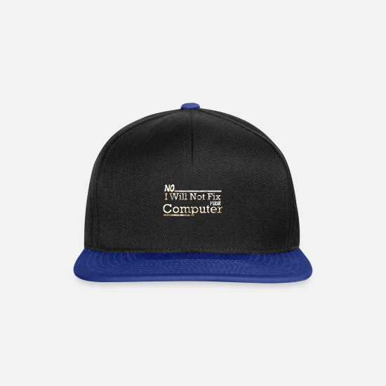 Tech Caps & Hats - Computer nerd - Snapback Cap black/bright royal