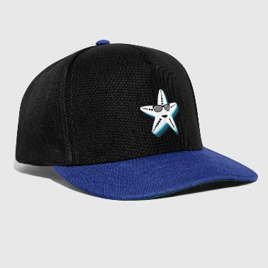Starfish with sunglasses Cool gift kids - Snapback Cap