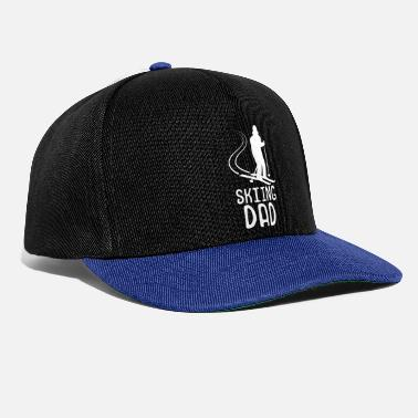 Skier father silhouette - Snapback Cap