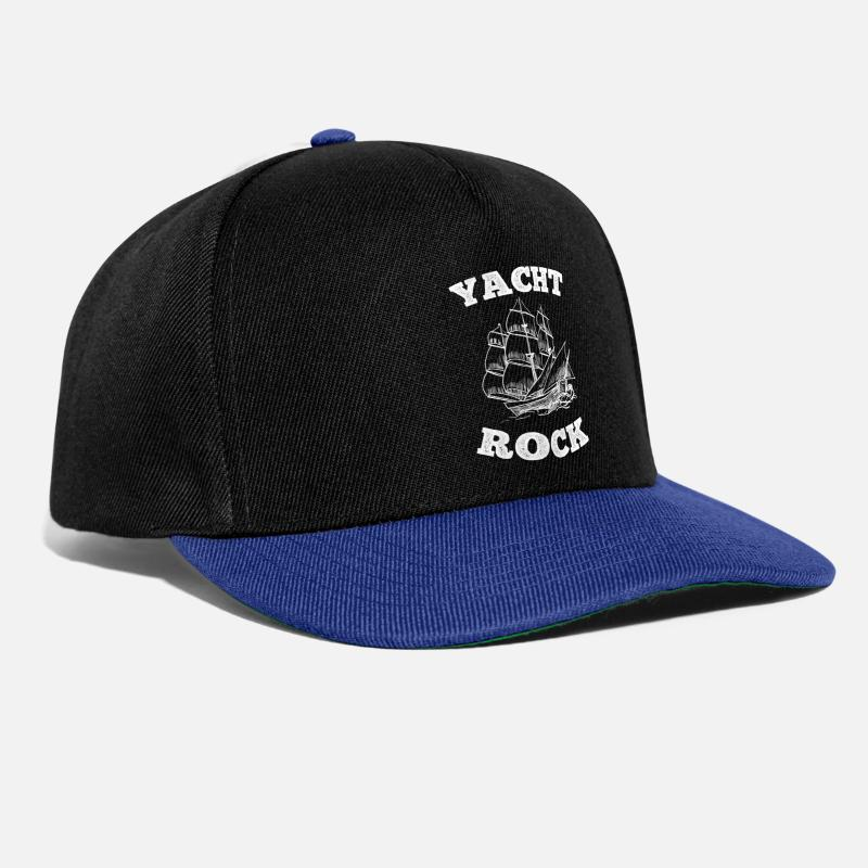 Rock Caps & Hats - Yacht Rock - Snapback Cap black/bright royal