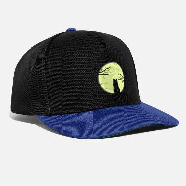 Fluffy Cat moon shadow gift Christmas - Snapback Cap