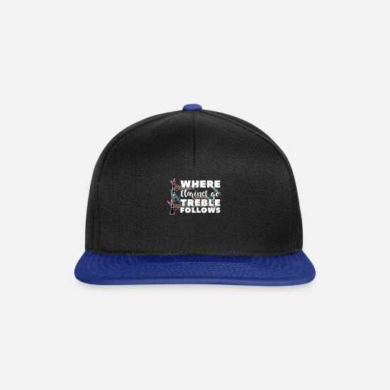 Gift Idea Caps & Hats - Clarinet instrument - Snapback Cap black/bright royal