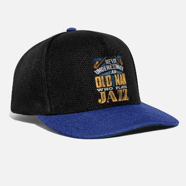 Guitarist The old man plays jazz music - Snapback Cap