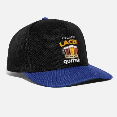 Laugh Funny Lager Give Up Beer But Not A Quitter - Snapback Cap