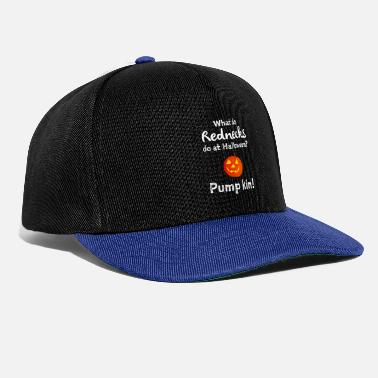 Amusing What do rednecks do at Halloween funny trick or - Snapback Cap