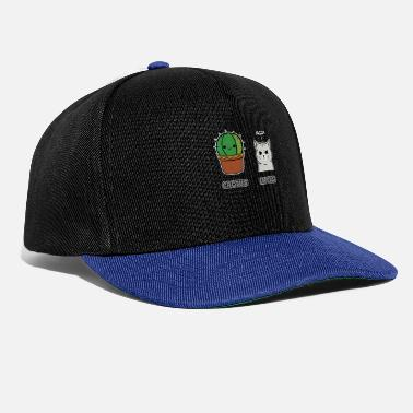 Cat Funny Pun Badass cat cussing and a prickly cactus - Snapback Cap