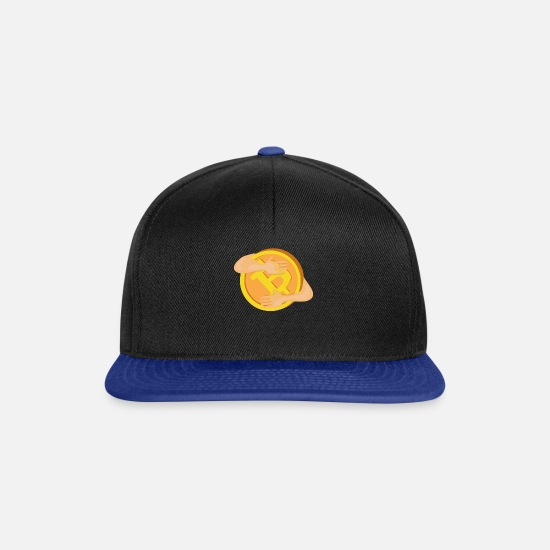 Money Caps & Hats - cash flow - Snapback Cap black/bright royal