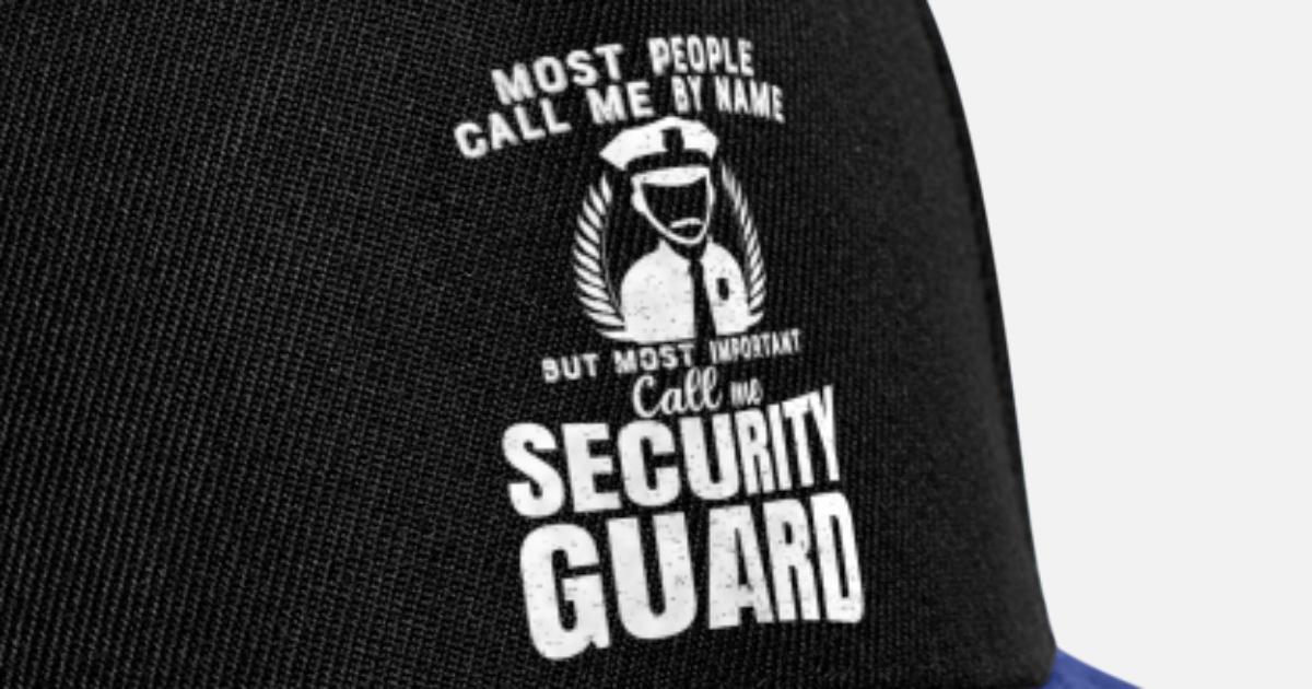 96b54ffe08a Sicherheits Wachmann - Security Snapback Cap