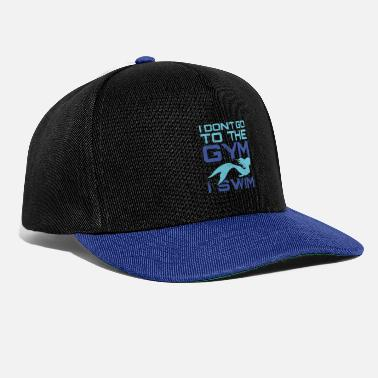 Mermaid dont gym, swim fun design. - Snapback Cap