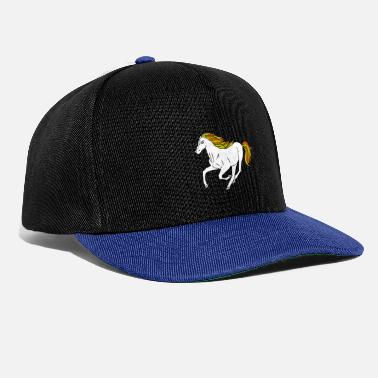 Wait Dressage horses and foals like the stable - Snapback Cap