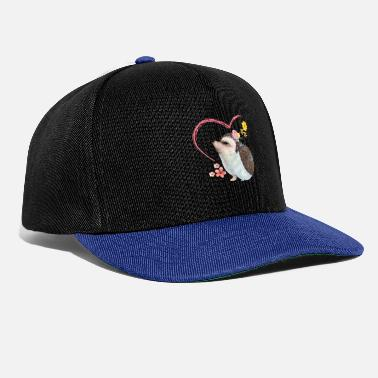 Autumn Hedgehog pile of leaves - Snapback Cap