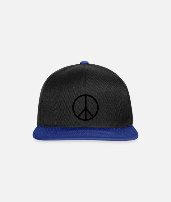 Rasta Caps & Hats - peace sign - Snapback Cap black/bright royal