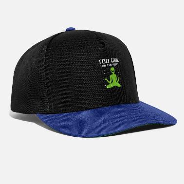 Raumschiff Too cool for the planet Alien Weltraum - Snapback Cap
