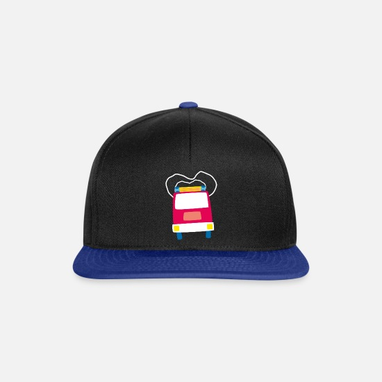 Kindergarten Caps & Hats - lalülala fire department car - Snapback Cap black/bright royal