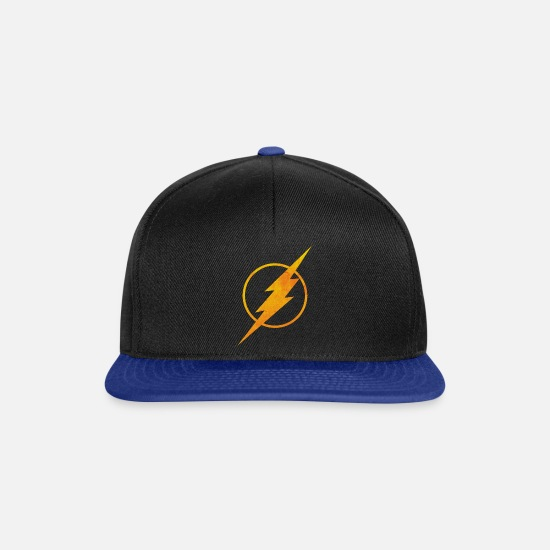 Comics Casquettes et bonnets - Justice League Flash Logo - Casquette snapback noir/bleu royal