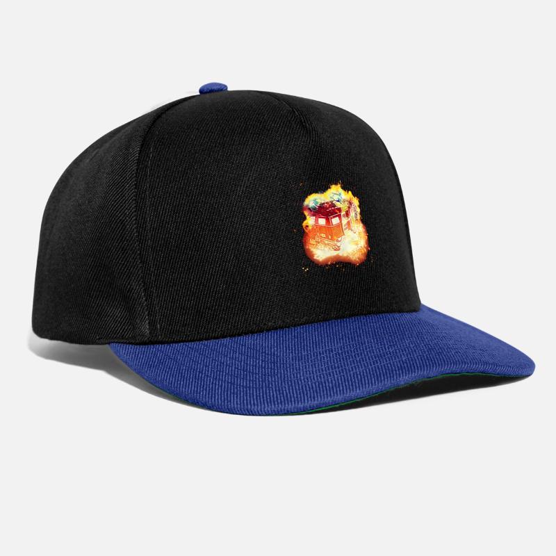 809f51362 Stables move burning Snapback Cap - black/bright royal