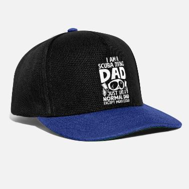 Baywatch Cooler Scuba Diving Dad - Scuba Diving for Men - Snapback Cap
