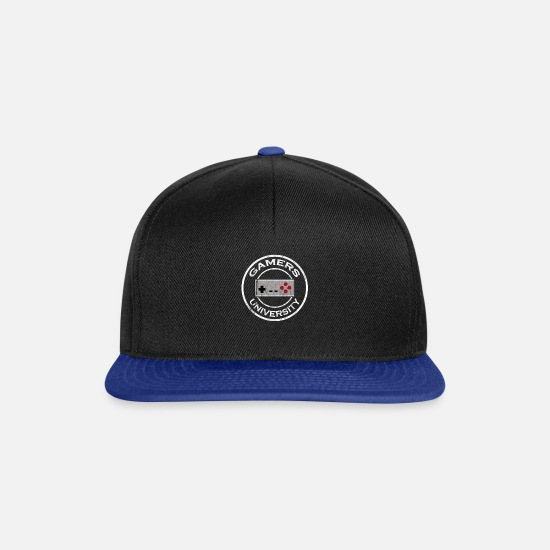 Gift Idea Caps & Hats - Gamer University Uni Student - Snapback Cap black/bright royal