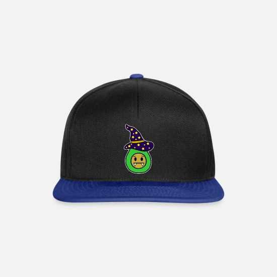 Witches Broom Caps & Hats - Avocado witch - Snapback Cap black/bright royal