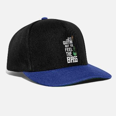 Heavy Feel the bass - Bassist Gitarre - Snapback Cap