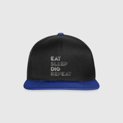 Eat Sleep Dig Repeat - Snapback Cap