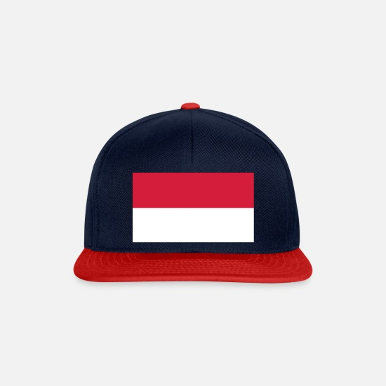 European Union Caps & Hats - indonesia flag - Snapback Cap navy/red
