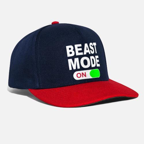 BEAST MODE ON - Snapback Cap. Front ffa69fa1ee07