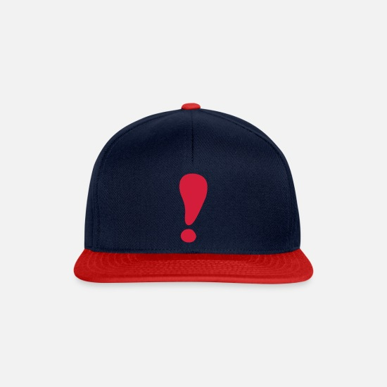 Exclamation Mark Caps & Hats - Exclamation mark - Snapback Cap navy/red