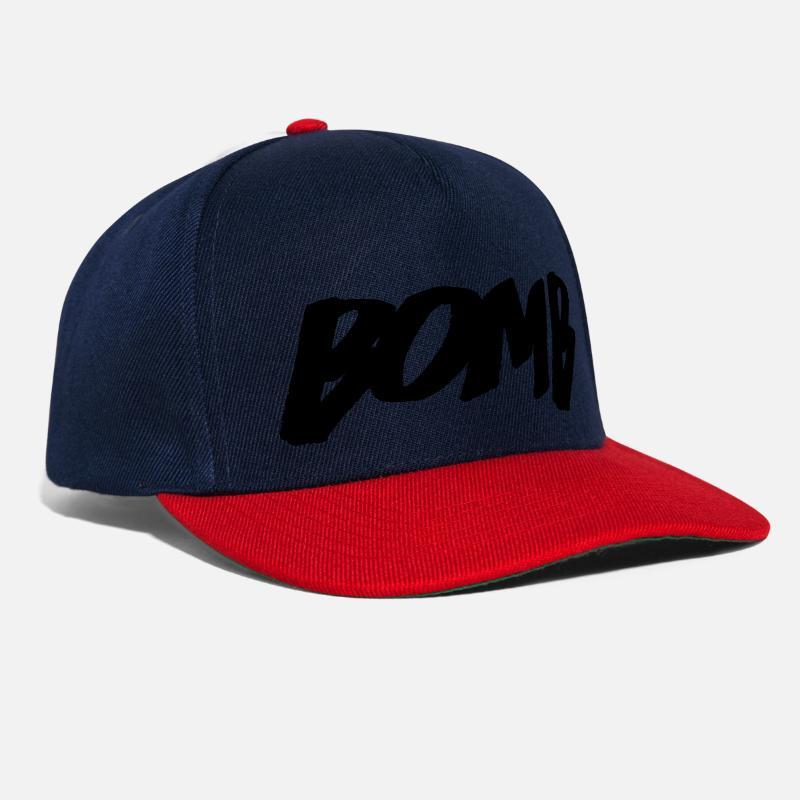 Etiqueta Gorras y gorros - bomba - Gorra snapback azul marino rojo 13c66031f03