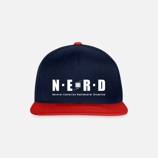 Nerd Caps & Hats - NERD WHITE - Snapback Cap navy/red