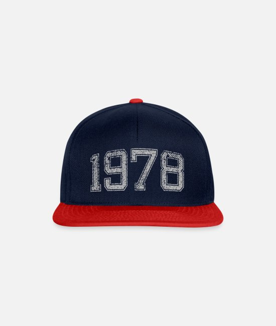 Year Caps & Hats - 1978 vintage - Snapback Cap navy/red