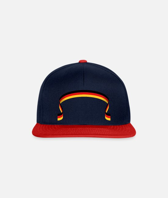 National Team Caps & Hats - Flag of Germany - Snapback Cap navy/red