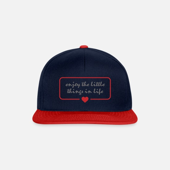 Love Caps & Hats - enjoy - Snapback Cap navy/red