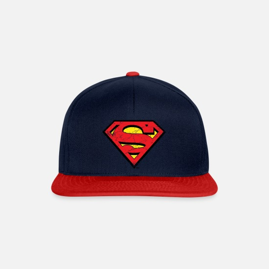 Superman Caps & Mützen - Superman Logo S-Shield vintage Snapback Cap - Snapback Cap Navy/Rot
