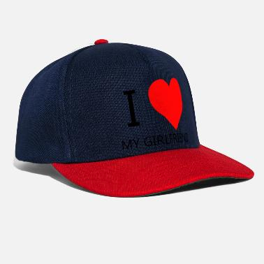 I Love My Girlfriend I LOVE MY GIRLFRIEND T-SHIRT - Snapback cap