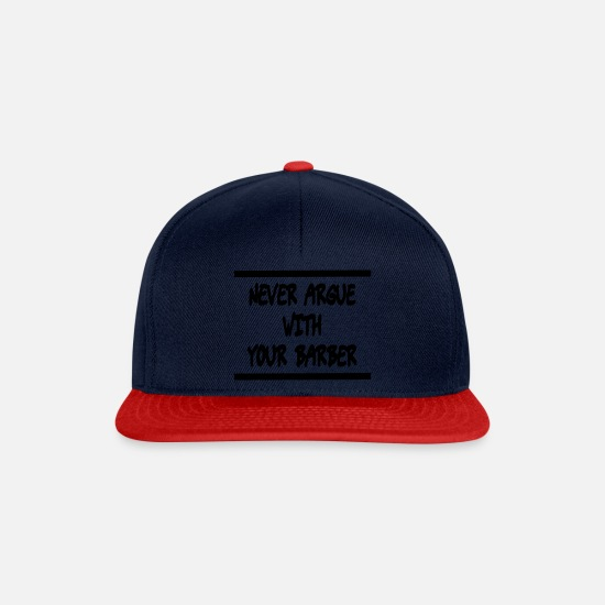 Gift Idea Caps & Hats - Barber - Snapback Cap navy/red